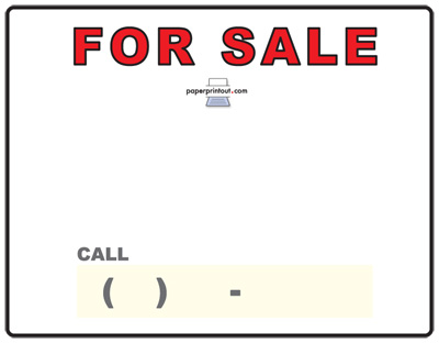 Car For Sale Template  Car Sale Sign Template