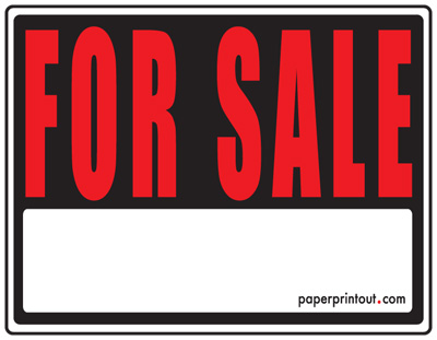 For Sale Signs Free Printable For Sale Sign Templates – Free for Sale Signs for Cars