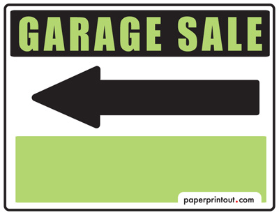 graphic regarding Printable Yard Signs titled Garage Sale Symptoms - Totally free, Printable and Downloadable