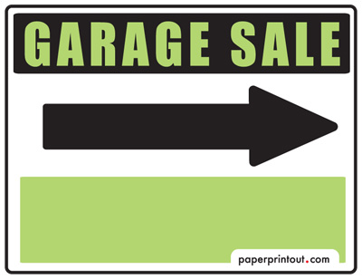 image about Printable Garage Sale Sign referred to as Garage Sale Symptoms - Cost-free, Printable and Downloadable