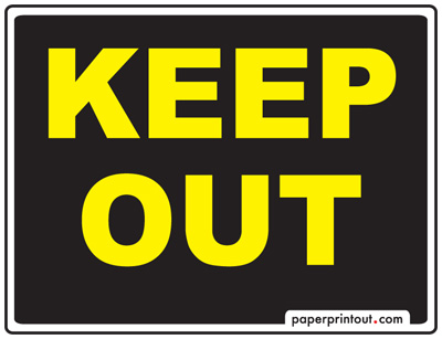keep out yellow