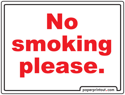 No Smoking Signs To Print Free