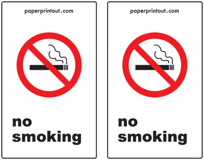 photo relating to Oxygen in Use Sign Printable titled No Using tobacco Indicators - Totally free, Printable Indication