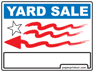 Yard Sale Signs Download a Free Printable Sign – Free for Sale Signs for Cars