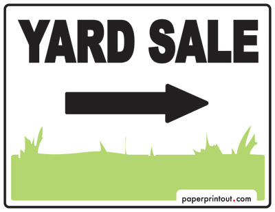 photograph about Printable Yard Signs identified as Backyard Sale Indicators - Obtain a Cost-free Printable Indication