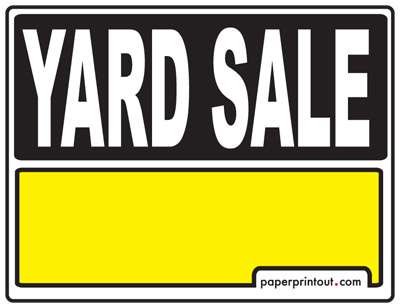 photo about Printable Yard Signs named Backyard Sale Indicators - Down load a Totally free Printable Indication
