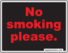 No Smoking Please