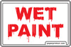 Printable Wet Paint Sign