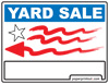 Yard Sale Sign Left