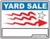Yard Sale Sign Right